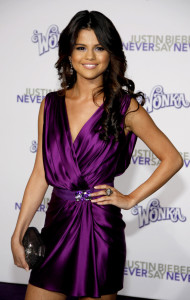 56053989 - selena gomez at the los angeles premiere of 'justin bieber: never say never' held at the nokia theater l.a. live in los angeles on february 8, 2011.